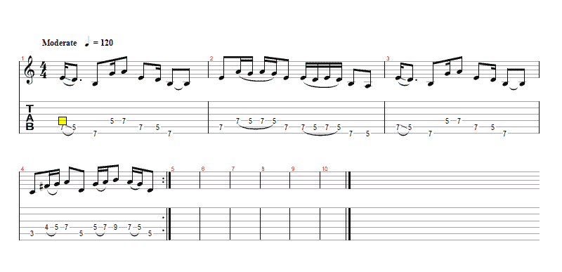Easy Blues Rhythm Licks