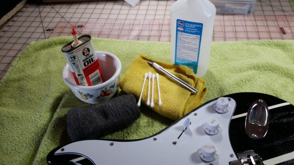 Things You Will Need to clean guitar strings